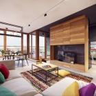 Appartement Appartement coloré, à Varsovie, équilibrage de décoration moderne et la vie confortable