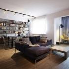 Appartement Appartement ouverte-mise en page, à Varsovie, présentant des éléments de Design industriel fraîche