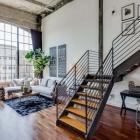 Appartement Vivre/travailler Loft Conversion dans San Francisco avec plafonds voûtés en béton