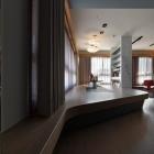 Appartement Appartement non conventionnel à Taïwan avec la suppression des éléments de mobilier sur mesure