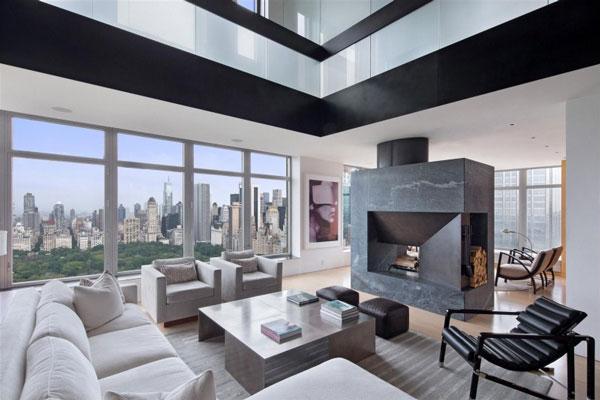Penthouse de luxe dans la ville de fascination nyc - Immobilier de luxe penthouse manhattan ...