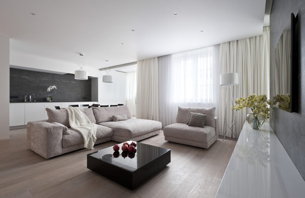 L gance moderne affich e par moscou de taille g n reuse for Aide decoration appartement