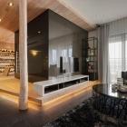 Appartement Élégant appartement d'americaine à Taipei présentant des idées de Design futuriste