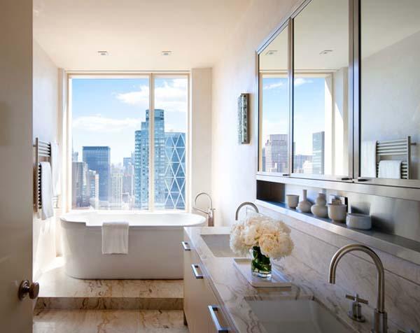 Appartement de doux couleur new york central park home for Flat appartement design