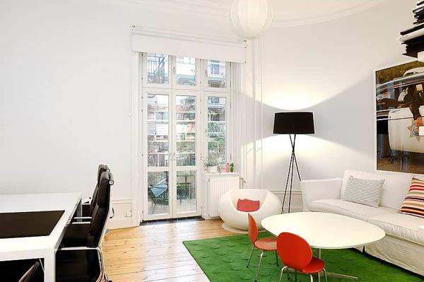 Appartement grand stockholm lumineux affichant des d tails for Grand appartement design