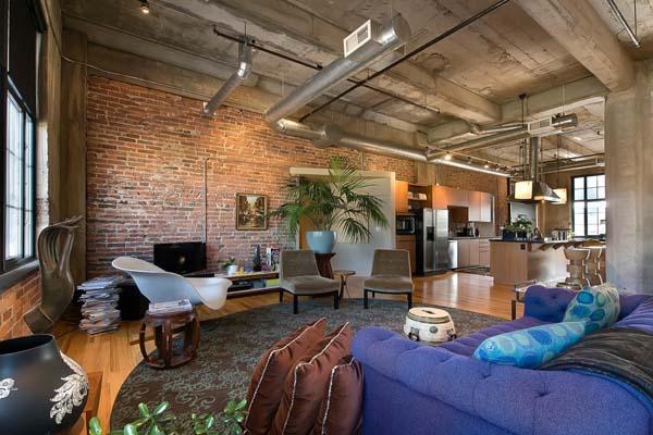 Fascinant loft occupant un ancien moulin farine denver immobilier appar - Loft design immobilier ...