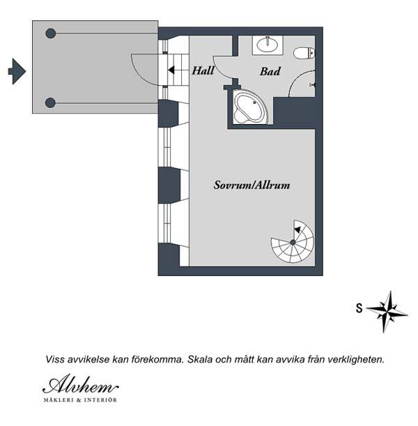 Lumineux appartement de deux tages su dois urbain - Appartement duplex alvhem makleri goteborg ...