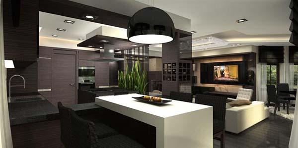 Appartement penthouse de luxe avec la composition de for Photo appartement design