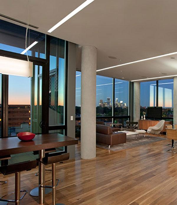 Design moderne penthouse avec vue sur les lacs de - Appartement moderne susan manrao design ...