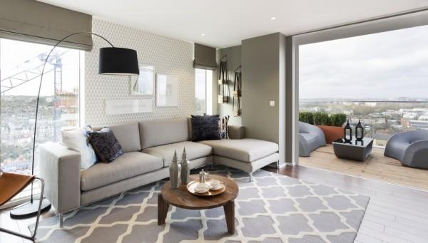 Frappant trois chambres duplex exsudant une vive for Appartement design londres