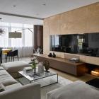 Appartement Matériaux naturels qui ornent Moscou sophistiqué appartement par Alexandra Fedorova