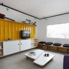 Appartement Maison colorée ingénieusement conçu sur un Budget à Sao Paulo, Brésil