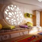 Chambre Original pour enfants ' s chambre Design présentant des couleurs vibrantes et Textures