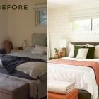 Chambre Avant et après : relooking chambre avec Moss et Accents corail