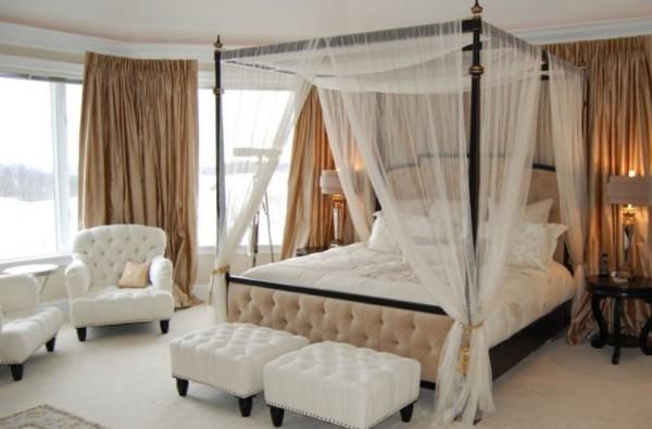 40 chambres superbes étalage des lits à baldaquin décoratif ...