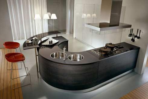 Countetops de cuisine moderne ronde de Pedini - Immobilier Cuisine ...