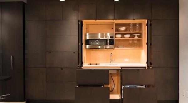 astucieuse cuisine furtif cacher loin composants inutiles vid o immobilier cuisine 30 05 2018. Black Bedroom Furniture Sets. Home Design Ideas