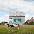 Maison Maisons éconergétiques de Leeuw en Belgique adaptée à son paysage de campagne