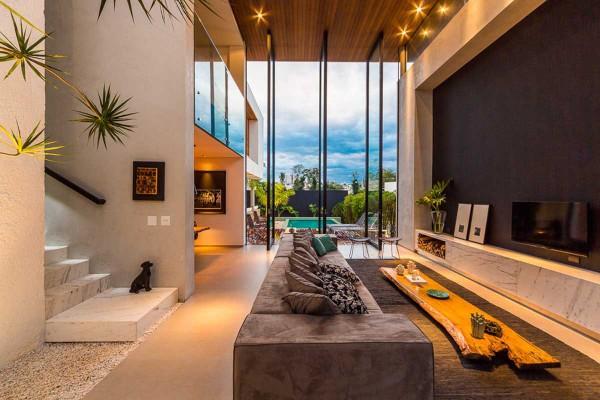 Maison de moderne br silienne adoptant une approche for Design casa moderna