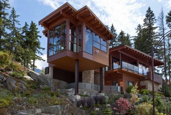 Chalet de montagne de luxe proposant une vue panoramique whistler canada immobilier maison - Canada maison a acheter ...
