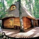 Maison Charmants détails présentés par Sauna Original de conte de fées en Russie