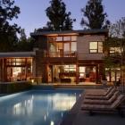 Maison Raffiné, fonctionnelle et Design Open maison nichée entre les arbres