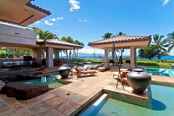 Jardins tropicaux et design spectaculaire mille vagues - Vacances hawaii villa de luxe ultime ...
