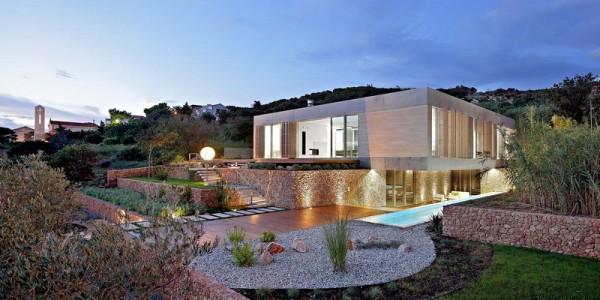 Maison moderne d 39 olive en croatie dot d 39 un impressionnant for Acheter une maison en croatie