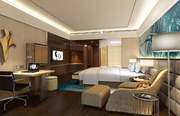 Nouvelle ambiance de kempinski hotel affichant des motifs for Hotel design ce
