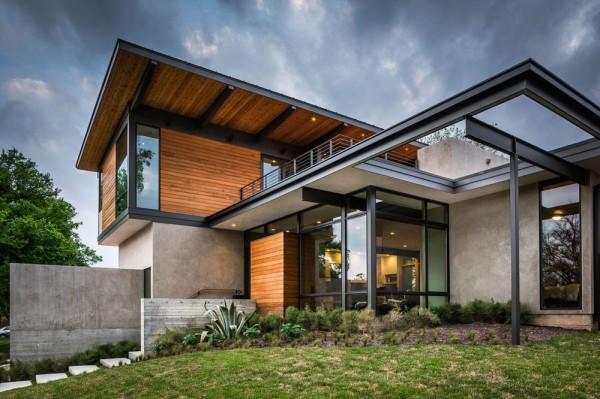 Moderne nouveau domicile au Texas, découvrant des vues du centre ...