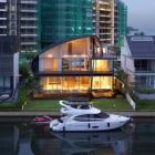 Maison Thème nautique exposée à l'origine de la maison de bord de mer à Singapour