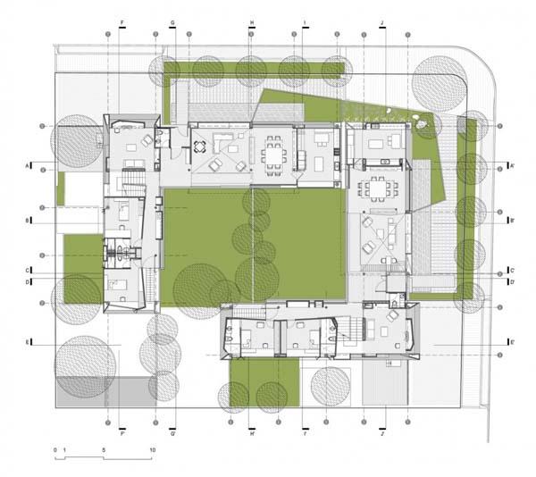 Maisons jumelles refl tant l 39 architecture contemporaine et for Architecture et design d interieur