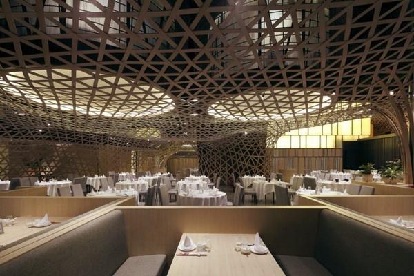 Le restaurant sur le th me du bambou original en chine for Acheter une maison en chine