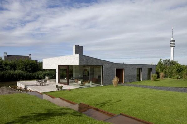 Belle villa contemporaine de plain pied aux pays bas - Villa nefkens wageningen aux pays bas ...