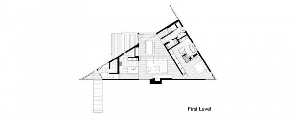 plan maison triangulaire