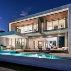 Maison Résidence moderne Peribere cadrage des vues sur les toits du centre-ville de Miami
