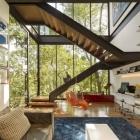 Maison Géométrie simple dévoilement intérieurs spectaculaires : Résidence de Limantos à São Paulo