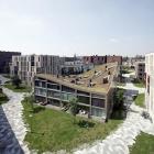 Maison Bloc de logement créatif dans l'une d'Amsterdam ' s nouveaux quartiers résidentiels