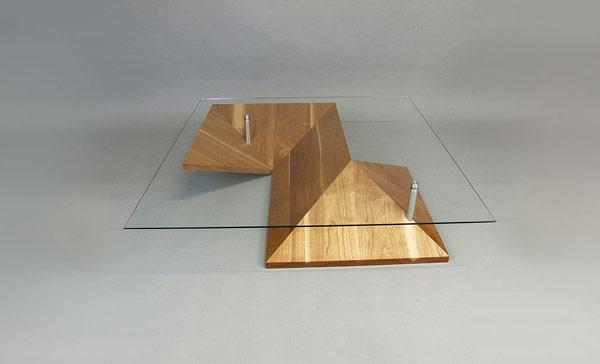 l gante exotique et hautement personnalisable table basse origami immobilier meuble 17 06 2015. Black Bedroom Furniture Sets. Home Design Ideas