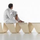 Meuble Engageante ADN banc de vrai Design ajoutant appel aux espaces publics