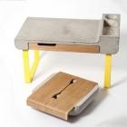 Meuble Duo visuellement frappante de meubles : Table de travail et boîte de coutellerie de Ekaterina Vagurina