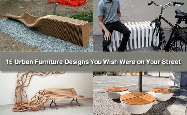 15 dessins de mobilier urbain que vous souhaitez étaient ...