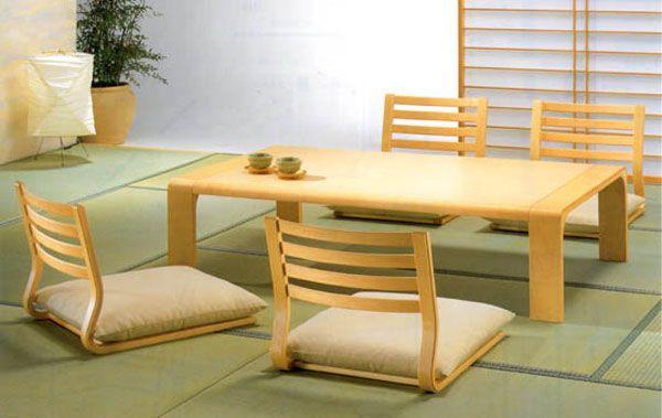 mobilier de salle à manger japonais pour un style minimaliste ... - Meuble Design Japonais