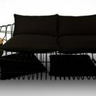Meuble Canapé minimaliste avec des rebondissements industriels : Sofist par Sule Koc Design