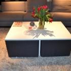 Meuble Simple mais astucieux Table basse Design avec chaises intégrées