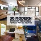 Salle de bain 30 idées de conception de salle de bains moderne pour votre paradis privé