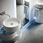 Salle de bain Pivotant bagues fonction de masquage et un Concept créatif : évier en orbite